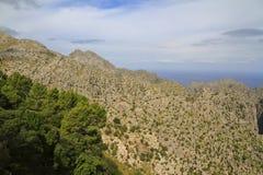 Härlig panoramautsikt av Mirador es Colomer, Mallorca, Balearic Island, Spanien royaltyfria foton