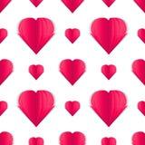 Härlig pappers- hjärta på det vita bakgrundssmattrandet royaltyfri illustrationer