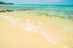Härlig paradisö med den tomma stranden och havet Royaltyfria Bilder