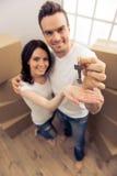 Härlig parflyttning royaltyfria foton
