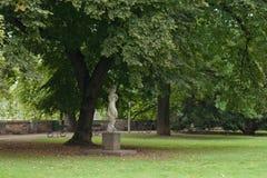 härlig park prague Royaltyfria Bilder