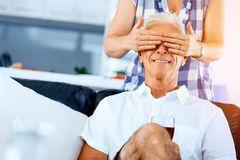 Härlig pensionär som älskar par royaltyfri foto