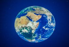 Härlig planetjord på planetariet Arkivfoto