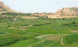 Härlig plats av den kinesiska byn Arkivbild