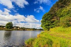 Härlig plats av floden Dee - Aberdeen Skottland, Royaltyfri Foto