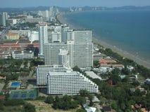 Härlig plats från det Pattaya tornhavet Royaltyfria Foton