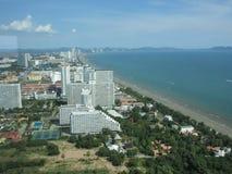 Härlig plats från det Pattaya tornhavet Royaltyfria Bilder