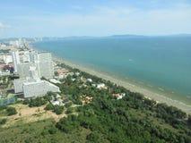 Härlig plats från det Pattaya tornhavet Arkivbild