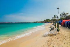Härlig Playa Blanca- eller vitstrand Royaltyfri Fotografi