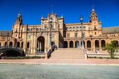 Härlig Plaza de Espana, Sevilla, Spanien Arkivbilder