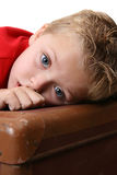 härlig pojke arkivfoto