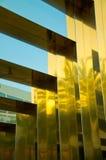 Härlig polerad guldtextur Arkivfoto