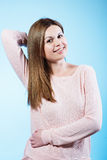 härlig posera kvinna Arkivfoton