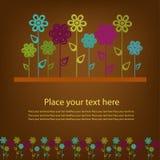 Härlig prövkopia från blommor Arkivfoton