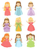 Härlig princessessamling Arkivbild