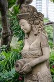 Härlig prinsessa för staty av asiatisk litteratur Arkivfoton