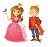 Härlig prinsessa och prins Royaltyfri Bild