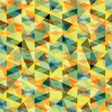 Härlig psykedelisk abstrakt geometrisk effekt för grunge för bakgrundsvektorillustration Arkivfoton