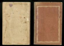 Härlig räkning av en tappningbok med den blom- ramen en tom etikett för din text Royaltyfria Foton