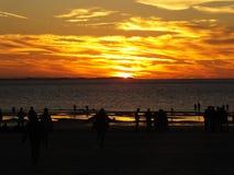 Härlig röd solnedgång Fotografering för Bildbyråer