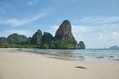 Härlig Railay strand i Krabi, sydliga Thailand royaltyfri bild