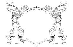 härlig ram royaltyfri illustrationer