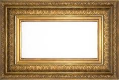 Härlig ram, dekorerad guld- ram Royaltyfri Fotografi
