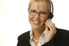 härlig receptionist Arkivfoto