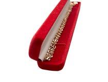 härlig red för guld för askkedjegåva Royaltyfri Fotografi