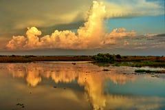 Härlig reflexion av molnet Royaltyfri Fotografi