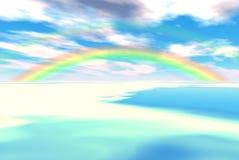 härlig regnbåge Arkivbild