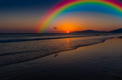 Härlig regnbåge i himlen Royaltyfria Foton