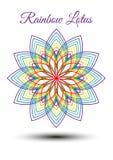 Härlig regnbågelotusblommablomma stock illustrationer