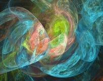 Härlig regnbågsskimrande plasmatic bakgrund i blått, rosa färger och gräsplan Royaltyfri Bild
