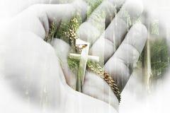 Härlig religiös katolsk natur Art High Quality arkivfoton