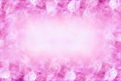 Härlig romantisk designbakgrund med utrymme i mitten för text-, abstrakt begrepp-, rosa färg- och vitfärger Royaltyfria Bilder