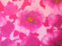 Härlig rosa blom- tygtextur, kan använda som bakgrund Arkivfoton