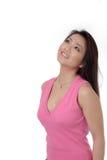 härlig rosa kvinna royaltyfri bild
