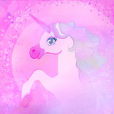 härlig rosa Unicorn. Royaltyfria Foton