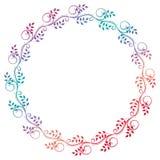Härlig rund blom- ram med lutningpåfyllningen Rastergem ar Arkivbilder