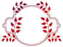 Härlig rund blom- ram med lutningpåfyllningen Rastergemkonst Royaltyfri Fotografi