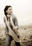härlig running kvinna Arkivfoton