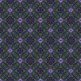 Härlig sömlös östlig mattgarneringmodell, abstrakt prydnad av rundan och fyrkant eller rombbeståndsdelar Texturbackgen Royaltyfri Bild