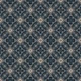 Härlig sömlös östlig mattgarneringmodell, abstrakt prydnad av rundan och fyrkant eller rombbeståndsdelar Texturbackgen Arkivbilder
