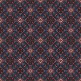 Härlig sömlös östlig mattgarneringmodell, abstrakt prydnad av rundan och fyrkant eller rombbeståndsdelar Texturbackgen Arkivfoto