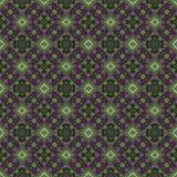 Härlig sömlös östlig mattgarneringmodell, abstrakt prydnad av rundan och fyrkant eller rombbeståndsdelar Texturbackgen Arkivbild