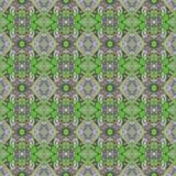 Härlig sömlös östlig mattgarneringmodell, abstrakt prydnad av rundan och fyrkant eller rombbeståndsdelar Texturbackgen Arkivfoton