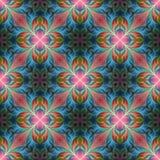 Härlig sömlös blommamodell i fractaldesign Konstverk för Royaltyfria Foton