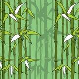 Härlig sömlös modell med bambu Vektor Illustrationer