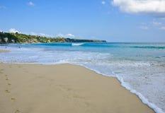 härlig sand för bali strand Arkivbild